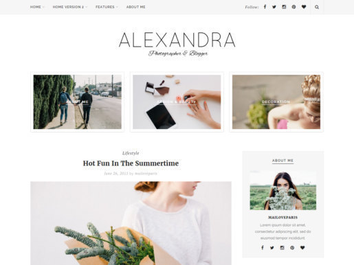 Etsy blog design Alexandra