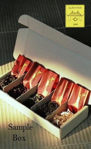 Sample Box mit einer Auswahl von 5 unserer besten Tees zur Verkostung
