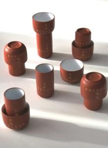 Chinesisches Riechbecher / Trinkschalen Set für Teeverkostung
