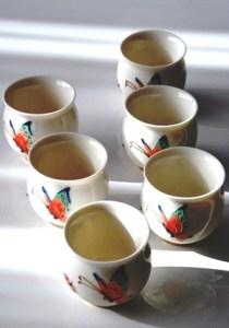 Chinesischer Tee-Becher / Tee-Tasse 'Calyx 1', Porzellan, doppelwandig