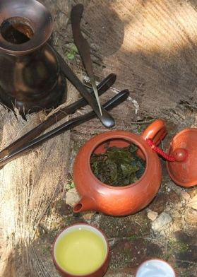 DMS Cha Khao Hoom Thai Rice Tea - in preparation