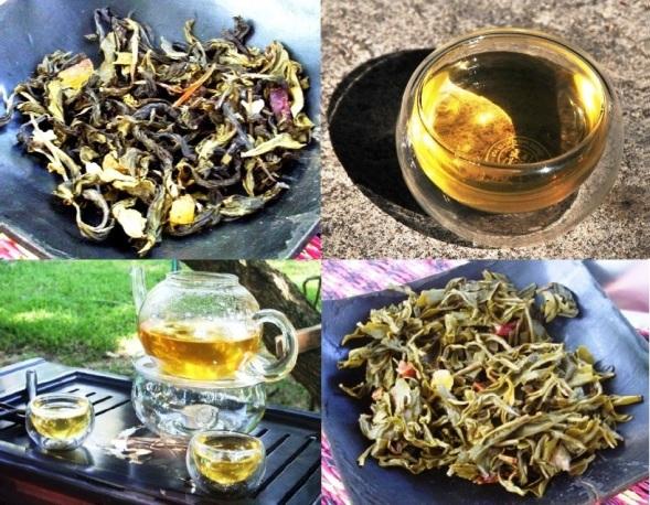 Grüner Tee mit Früchten und Gewürzen als Aromaspender
