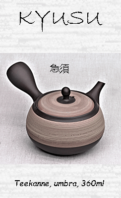 Japanische Teekanne, umbra, 360ml, Ton, Handarbeit