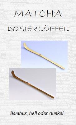 Matcha-Löffel zum Portionieren von Matcha-Pulver, Bambus, hell oder dunkel