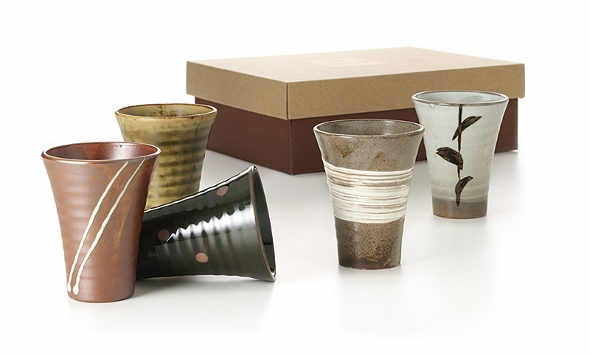 5-teiliges Japanisches Teebecher-Set 'Takeo', verschiedene Designs