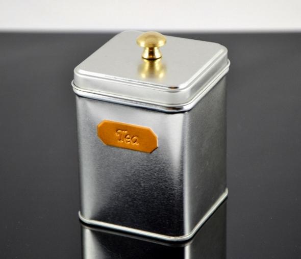 Teedose 'Tea' 100g - mit Knopfdeckel