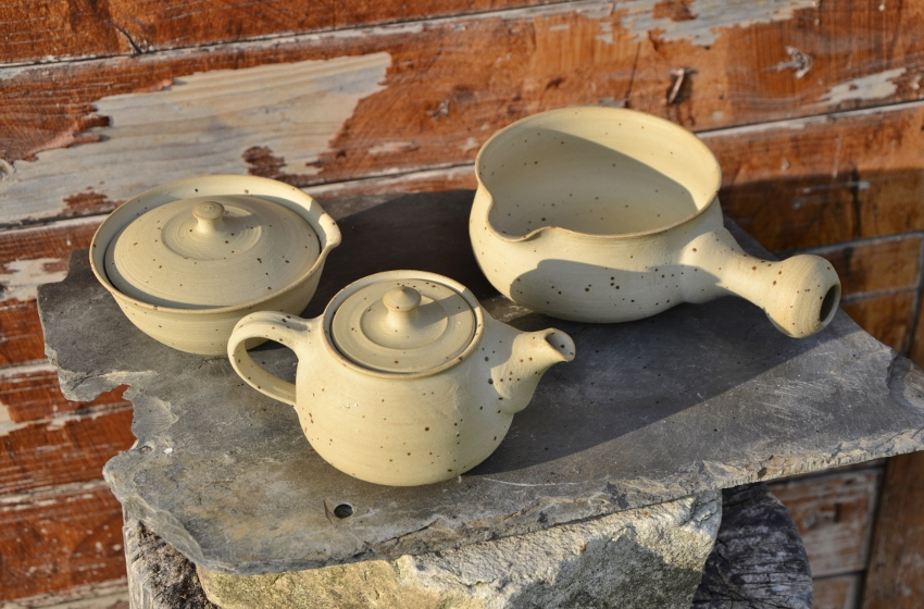iamTee Signature Teekeramik - Das Ensemble : Teekännchen, Shiboridashi, Yuzamashi