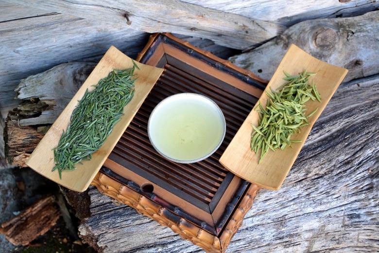High Mountain Zhu Ye Qing Green Tea from Emei Shan, Sichuan, China : pure unopened buds