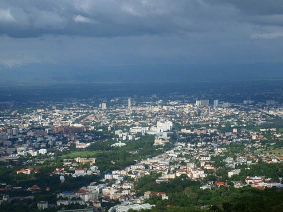 Vue sur la ville de Chiang Mai