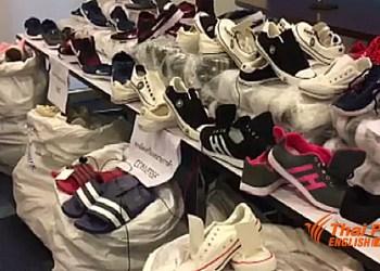 Les chaussures contrefaites saisies