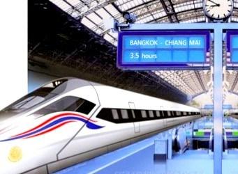 Le Train à Grande Vitesse Bangkok-Chiang Mai Estimé à 420 Milliards de Bahts
