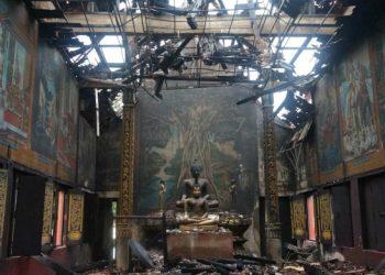 Chiang Mai : un incendie dévaste un temple la nuit du Nouvel An