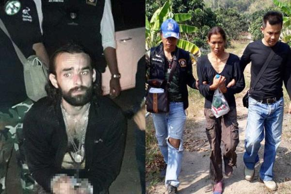 Amaury Rigaud et sa compagne thaïlandaise ont été tous deux arrêtés après plusieurs jours de cavale, ils sont suspectés du meurtre d'un ressortissant italien