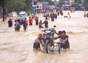 Les inondations de mousson ravagent le sud de la Birmanie