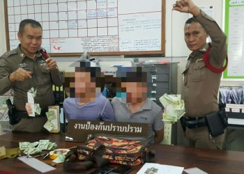 Bangkok : 2 Chinois arrêtés pour avoir volé les dons faits à un temple