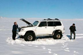 Car Broken at Dettifoss
