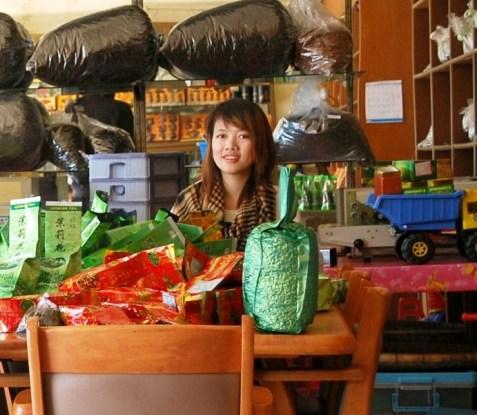 Doi Mae Salong tea shop girl