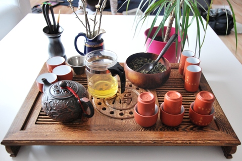 Gong Fu Cha Setup 5, Chinese Tea Ceremony, First Infusion 4