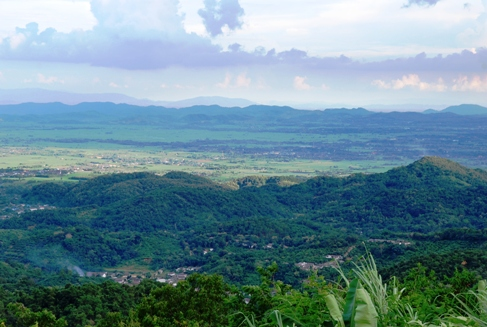 Doi Tung, North Thailand, panoramic view