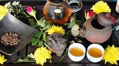 Doi Mae Salong Shi Er Black Pearls celebration, Gong Fu Cha tea ceremony style