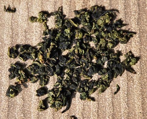 Anxi Tie Guan Yin, Fujian province, China; closeup