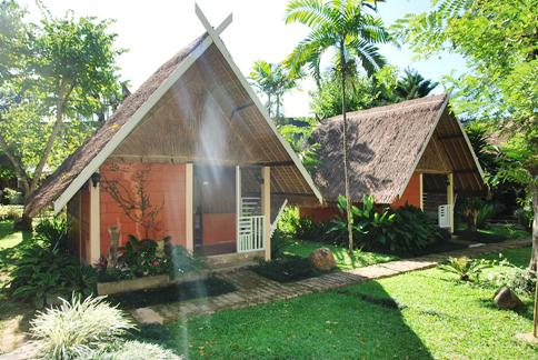 Our bungalow at the Rim Taan Resort in Ban Therd Thai