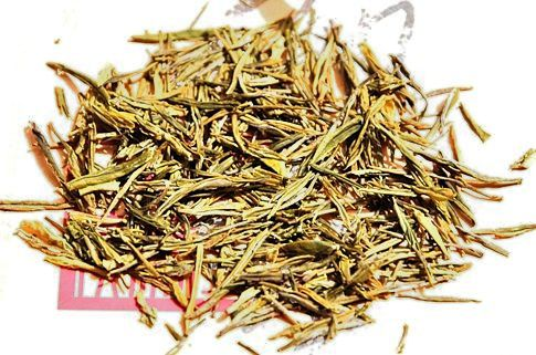 "Anji Bia Cha Green Tea / ""Anji White Tea"" - Dry tea leaves"