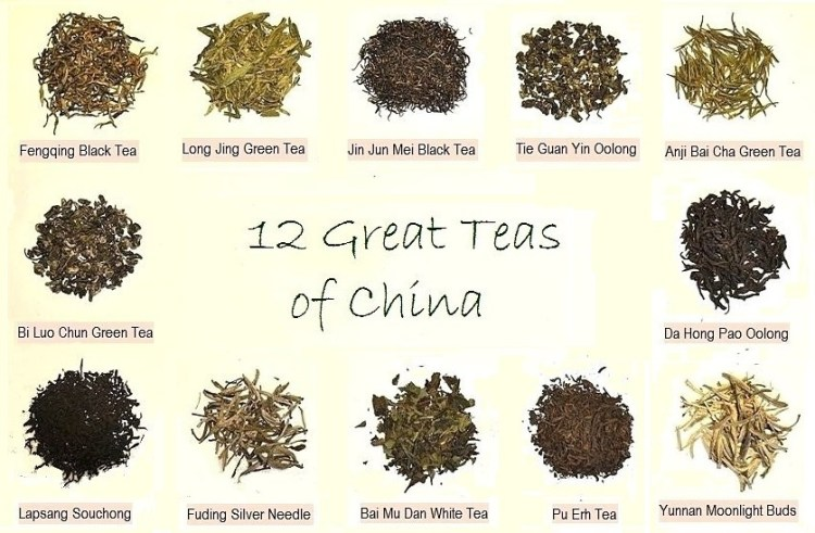 12 famous Chinese teas from my private tea shelve