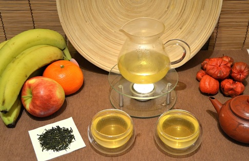 Japanese Sencha green tea, celebrated