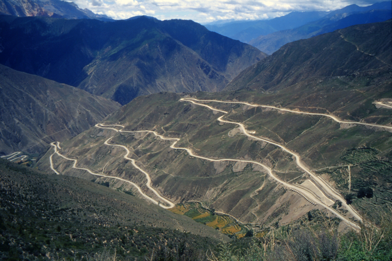 """The Sichuan-Tibet """"Highway"""", part of the ancient Tea Road from Yunnan to Tibet"""