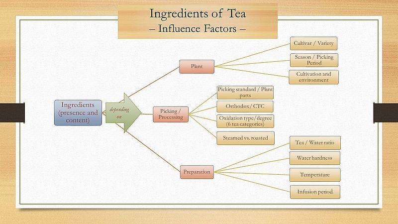 Ingredients of Tea - Influcence Factors