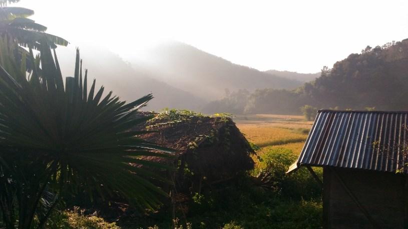 Fertile valley in Xiengkhouang, Laos