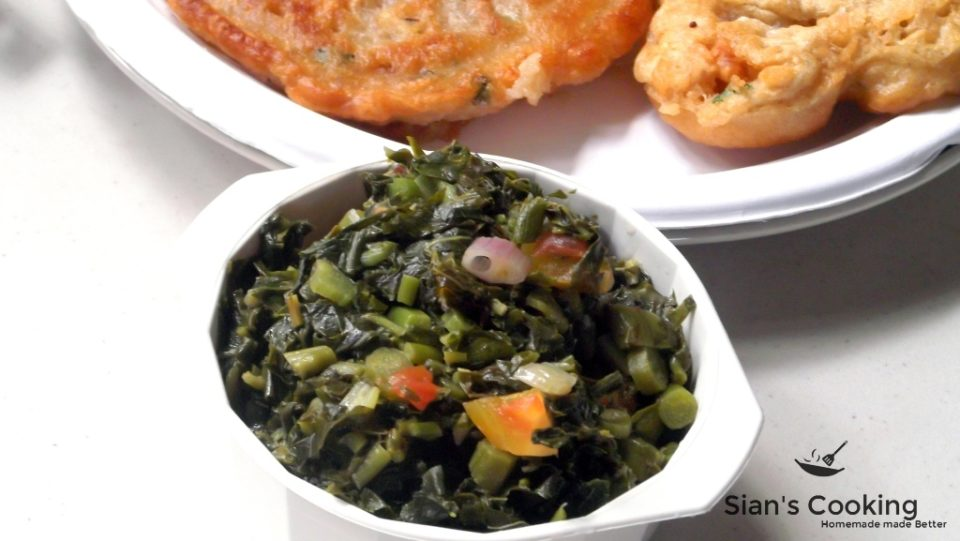 steamed callaloo