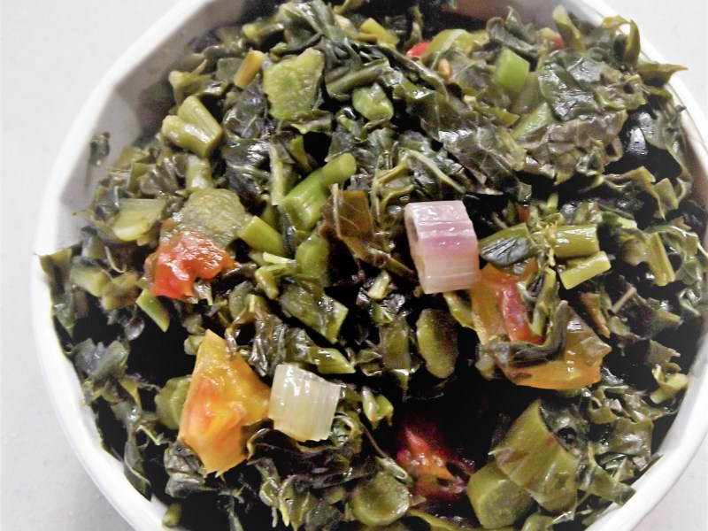 Steamed Callaloo Recipe, Jamaican style