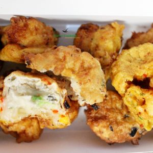 conch and saltfish fritters