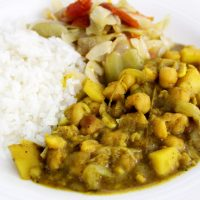 Curry Chickpeas ' Channa' Meal