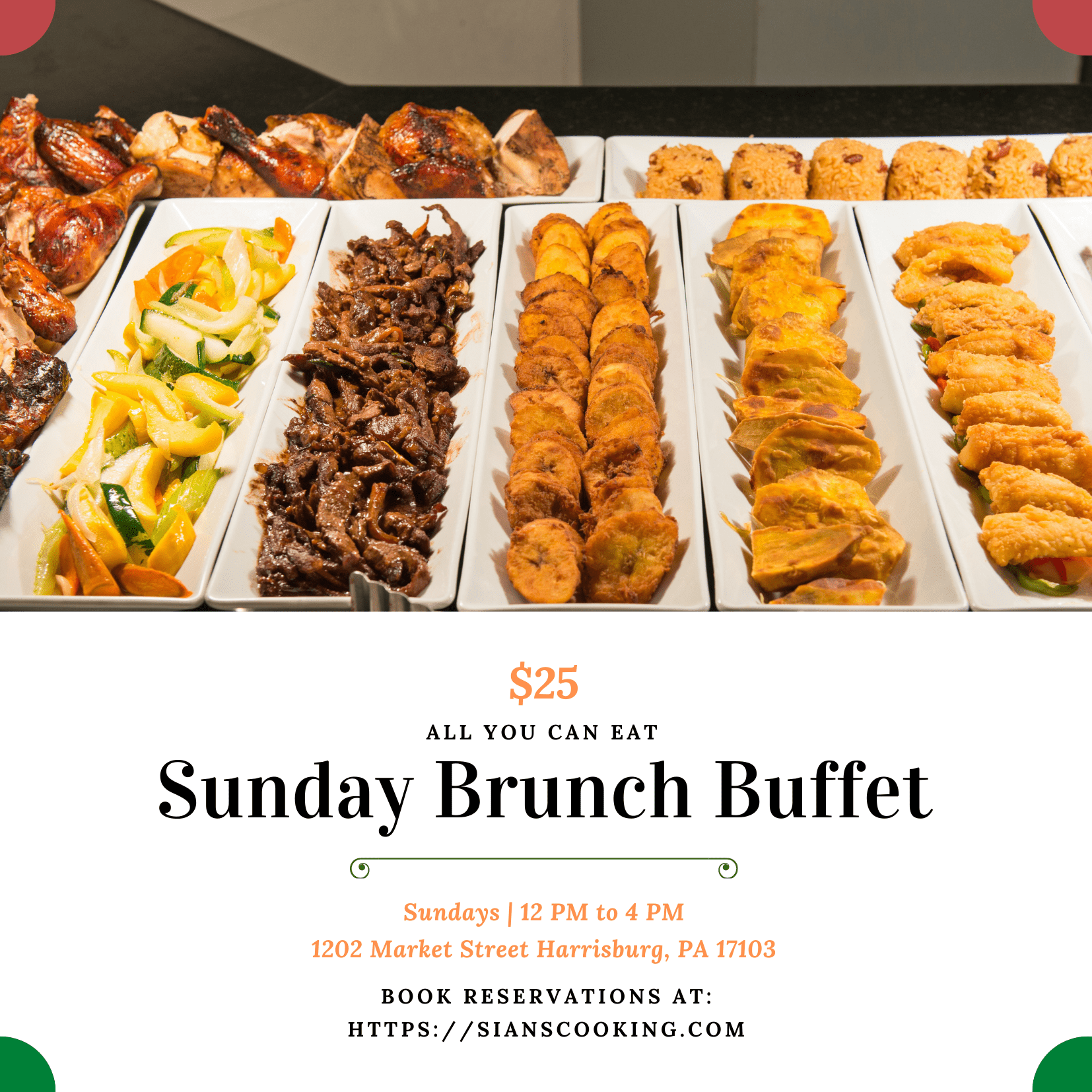 $25 all you can eat Sunday brunch
