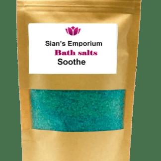 Soothe bath salts bag
