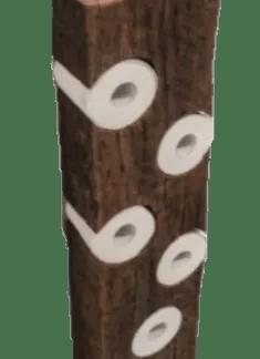 tall wood holder