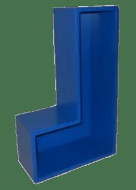 Tetromino L shape classic dark blue
