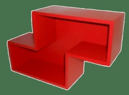 Tetromino zig zag classic red