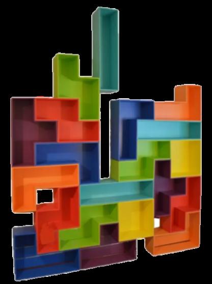 Tetris like wall unit