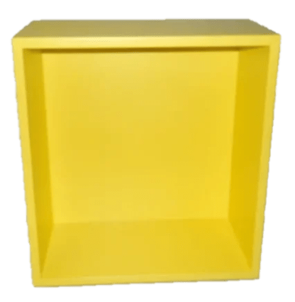 Tetris shelf unit square classic yellow