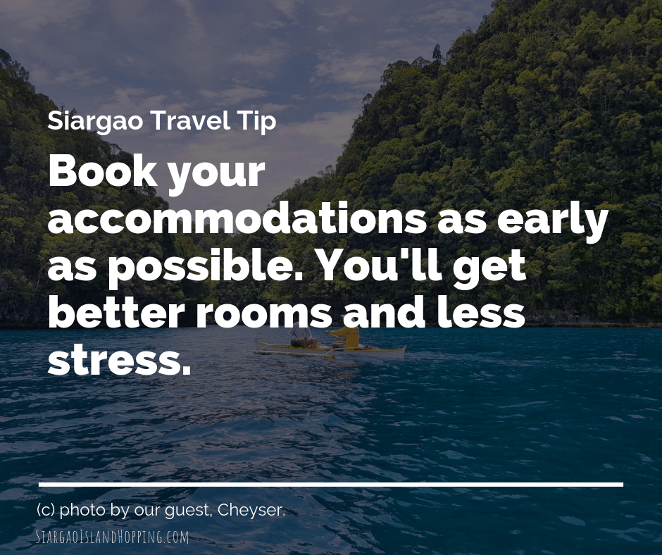 Siargao Accommodation tip