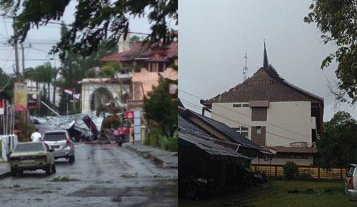 Hujan Deras Disertai Angin Kencang Terjang Kota Bukittinggi