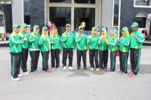 Bupati Pasaman Lepas 9 Atlet Korpri Pasaman Mengikuti PORNAS Korpri Ke-XV di Bangka Belitung