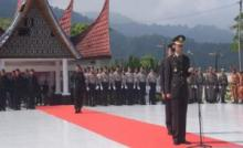 Kapolres Padang Panjang Sugeng Hariyadi Pimpin Upacara Ziarah Nasional di TMP Kusuma Bakti