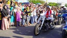 Tabligh Akbar di Padang, Ustaz Abdul Somad Tiba dengan Moge Harley-Davidson