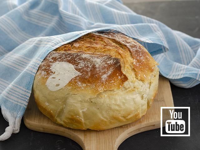 Yoğurmadan, Makinesiz Ekmek Tarifi