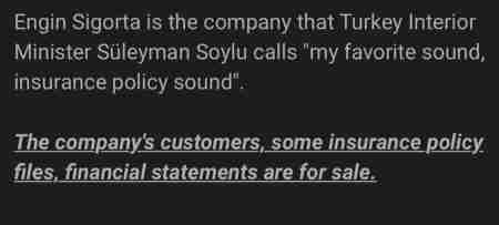 İçişleri Bakanı Soylu'nun kurucusu olduğu Engin Sigorta hacklendi